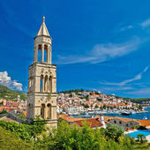 Island town of Hvar waterfront — Stock Photo