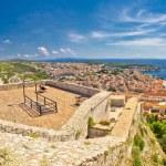 Island of Hvar panoramic aerial view — Stock Photo #52944677