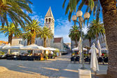Town of Trogir palm promenade — Foto Stock