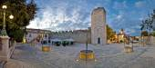 Town of Zadar square evening view — Stock Photo