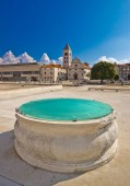 Zadar historic forum square view — Stock Photo