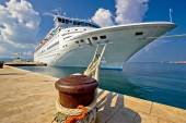 Cruise ship on dock in Zadar — Stock Photo