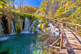 Autumn colors of Plitvice lakes national park — Stock Photo