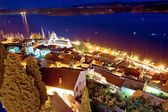 Aerial evening view of Sibenik — Stockfoto