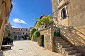 Old stone streets of Stari Grad — Stockfoto