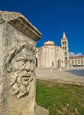 Zadar old roman square artefacts — Stock Photo