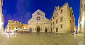 Zadar cathedral square night view — Stock Photo