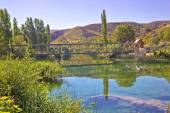 Natural beauty of green Zrmanja river — Stock Photo