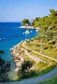 Island of Losinj tourist destination coast  — Stock fotografie