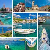Hvar island tourist destination collage — Stock fotografie