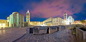 Zadar Forum square evening panorama — Stock Photo