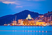 UNESCO town of Sibenik blue hour view — Stock Photo