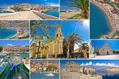 Island of Pag summer collage — Stock Photo