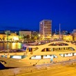 Yacht in Zadar harbor evening view — Foto de Stock   #77220035