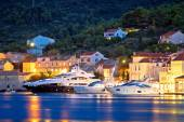 Luxury yachts in Town of Vis waterfront — Stock Photo
