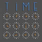 Vector set of clocks — Stock Vector