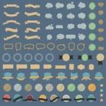 Big set of design elements and speech bubbles — Stock Vector #58922681