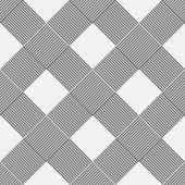 Diagonal pattern wickerwork — Stock Vector
