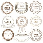 Set of hand drawn badges — Stock Vector
