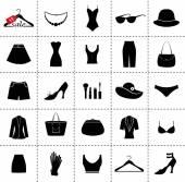 Set van mode-iconen — Stockvector