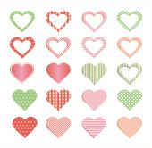 Hearts collection. — Stock Vector