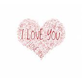 Coração feito de palavras — Vetorial Stock