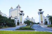 COTAI STRIP MACAU CHINA-AUGUST 22 front view of Galaxi Hotel big and luxury hotel in Macau on august 22,2014 in Macau China — Stock Photo