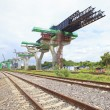 Постер, плакат: Railways and sky train structure construction use for government