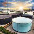 Oil storage tank in petrochemical refinery industry plant in pet — Stock Photo #53539011