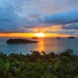 Sun set and beautiful dusky sky at Koh Chang Island view point t — Zdjęcie stockowe #57041865