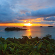 Sun set and beautiful dusky sky at Koh Chang Island view point t — Stock Photo #57041865