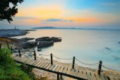 Beautiful sea scape in morning light of khao leam ya marine nati — Stock Photo