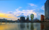 MACAU CHINA - August 22- important landscape of macau landmark b — Stock Photo