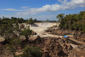 Khonprapeng water fall or mekong river in champasak southern of  — Стоковое фото