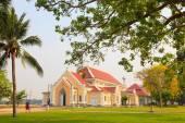 Wat Niwet Thammaprawat  buddhist temple important destination la — Stock Photo