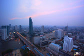 Top view from bangkok sky scrapper looking to the west see taksi — Stock Photo