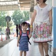 Children and mother go to school first day use for education ,ki — Stock Photo #69664899