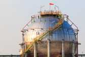 Petrochemical industry plant in industrial estate — Stock Photo