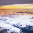 Clouds scape of top view from plane window — Stock Photo #75879825