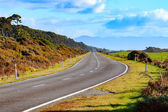 Beautiful land scape of westcoast asphalt highways in south island new zealand — Stock Photo