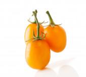 Three Yellow Oblong Tomatoes — Stock Photo