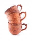 Homey Ceramic Cups — Stock Photo