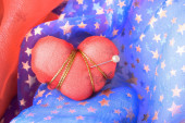Red Heart Struck with Pin — Stock Photo