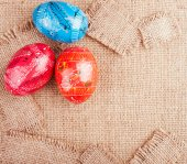 Easter Eggs on the Sackcloth — Photo