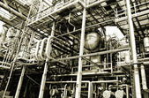 Oil and gas refinery details — Stock Photo