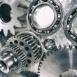 Cogwheels, ball-bearings and gears engineering — Stock Photo #54392269