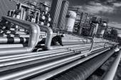 Oil and gas pipelines — Stock Photo