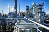 Oil and gas industry, refinery in HDR effect — Stock Photo