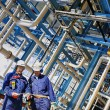 Chemical oil and gas industry with refinery-workers — Stock Photo #58486413