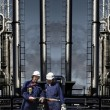 Oil and gas, power industry with workers — Stock Photo #58487407